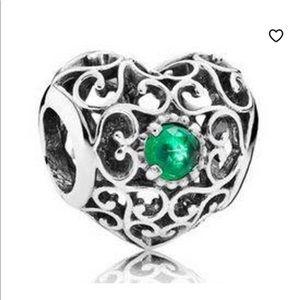 Pandora emerald heart charm